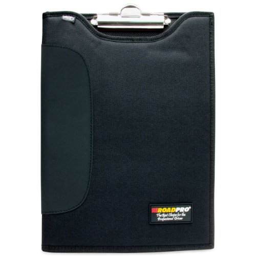 RoadPro DCB-111BK Padded Clipboard with Inside Pocket