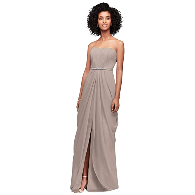 d148bbadd7 Strapless Chiffon Bridesmaid Dress With SWAG Skirt Style F19650 ...