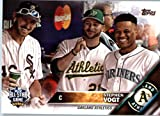 2016 Topps Update #US86 Stephen Vogt Oakland Athletics Baseball All-Star Card in Protective Screwdown Display Case