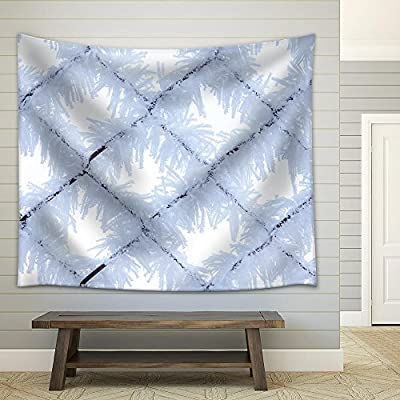 Fence with Frost Close Up Fabric Wall, Made For You, Marvelous Print