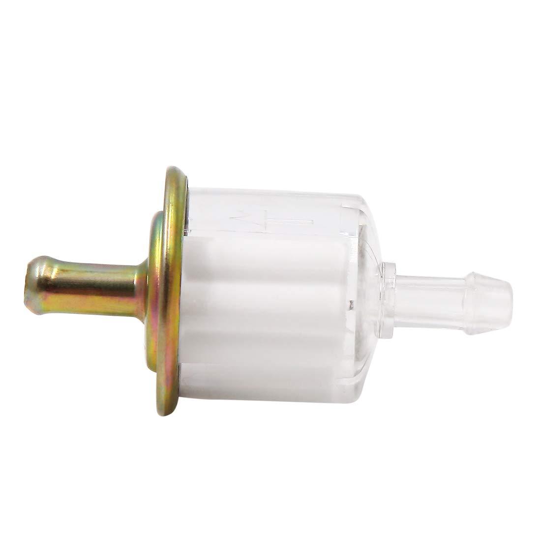 Motorrad Benzinfilter Universal Pertol Inline Gas Kraftstofffilter 60x31mm sourcing map 2Stk