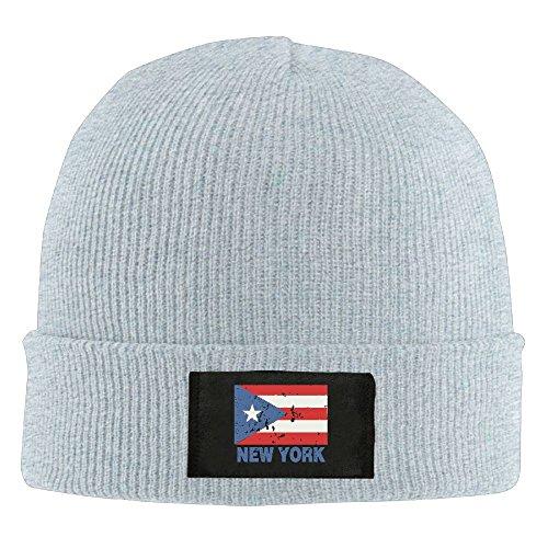 Adult New York Puerto Rico Flag Winter Acrylic Knit Beanie Hat Skull - Headband New York Mets