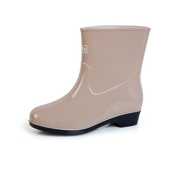 Frau-in-Rohr-Stiefel/ Lady Stiefel/ Herbst Stiefel Gummischuhe/ Modeschuhe-D Fußlänge=24.3CM(9.6Inch) gtHuj1