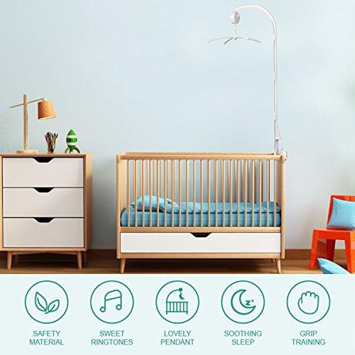 AGPtek 28 inch Baby Crib Mobile Bed Bell Holder Music Box Holder Arm Bracket Baby Bed Stent Set Nut Screw by AGPTEK (Image #8)