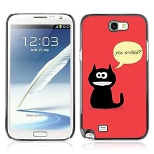 YOYOSHOP [Funny Cat Illustration] Samsung Galaxy Note 2 Case