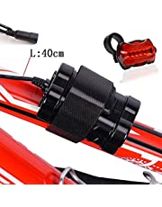CDC® 4 x 18650 4000mAh 8.4V Rechargeable Battery Pack Pouch with 5 LED Taillight For CREE XML-T6 LED Bicycle Headlight Head Lamp - Bayonet