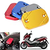 GZYF Motorcycle Pair of Front Brake Fluid Reservoir Caps Cover Compatible with Yamaha NMAX 155 2015-2019