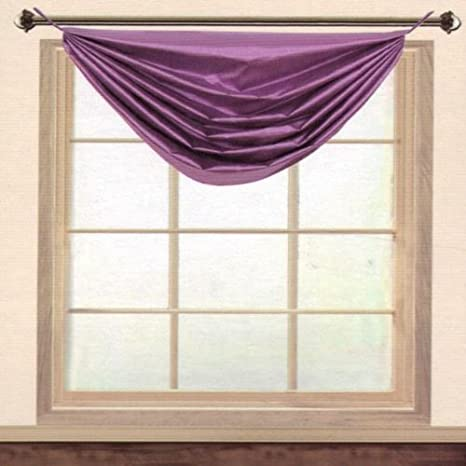 36 by 37-Inch Editex Home Textiles Elaine Grommets without Trim Waterfall Valance Black Editex Home Curtain Home 627VAL3710