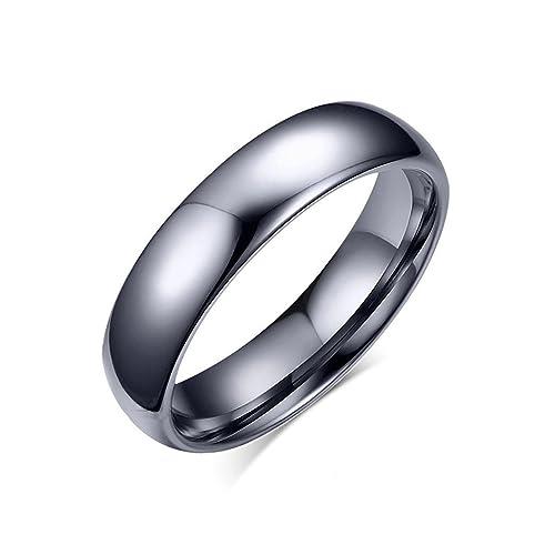 Tianyi 4 mm para hombre carburo de tungsteno anillos de boda banda compromiso promesa, curvada