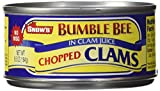 Snows Clam Chopped, 6.5-Ounce Cans (Pack of 12)