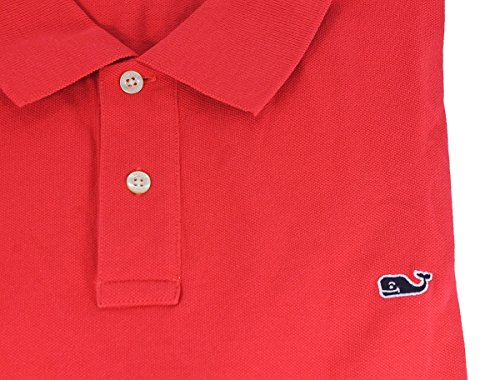 Vineyard Vines Mens Solid Genoa Red Classic Pique Polo Shirt