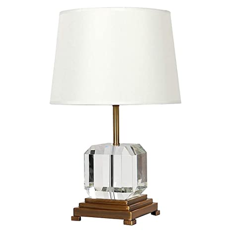 Modern Table Lamps Crystal Desk Lamps With White Fabric