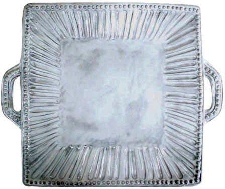 (Vietri Incanto Stripe Square Handled Platter by VIETRI)