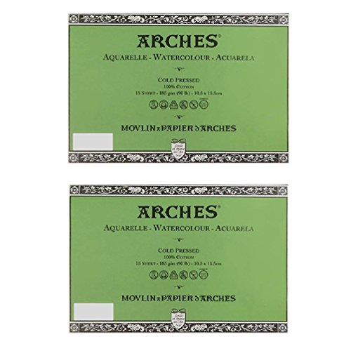 Canson Arches 100% Cotton Watercolor Postcard Paper, Watercolor paper_Original Version