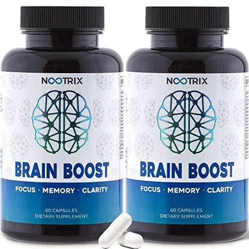 (2-Pack) Brain Boost by Nootrix – Premium Nootropic Supplement – Improves Cognitive Function & Memory, Enhances Focus…