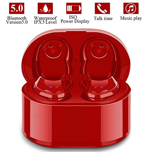 Wireless Earbuds True Wireless Stereo Earphones Sports Mini Bluetooth 5.0 Cordless Headset in Ear Car Headphones with Mic,Compatible with iPhone iPad Android Smartphones Tablets Laptop