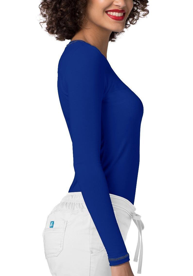 Adar Womens Comfort Long Sleeve Fitted T-Shirt Underscrub Tee- 3400 - Royal Blue - L by ADAR UNIFORMS (Image #3)