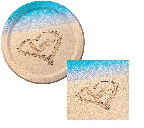 Beach-Love-Wedding-Lunch-Napkins-Plates-Party-Kit-for-8