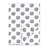 Minky Baby Blanket 30' x 40' Soft Plush Double Layer Fleece Fabric Swaddle Blanket for Newborns and Toddler Kids Crib Bedding, Nursery, Security (White, You are My Sunshine)