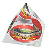 "MLB St Louis Cardinals Busch Stadium in 2"" Crystal Pyramid with Colored Windowed Gift Box"