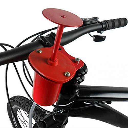 Bazaar 120db Cycling Bike Bicycle Air Horn Pump Bell Alarm Super Loud Professional Red ()