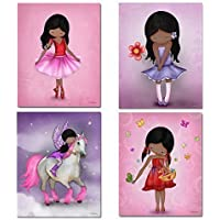 Set of 4 Posters African American Girls Wall Art Decor...