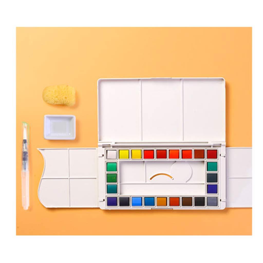 Acuarela sólida, Pintura, Conjunto, Conjunto Conjunto Conjunto de Acuarela, Gouache sólido subenvasado, portátil de Color sólido, Color Brillante. Cómic. Boceto Pintado a Mano. Fácil de Llevar. 9a8b15