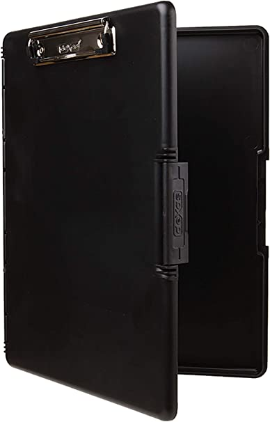Dexas 3517-91 Slimcase 2 Storage Clipboard With Side Opening Black
