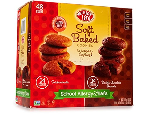 Enjoy Life Soft Baked Cookie 48 Count - Double Chocolate Brown (24) & Snickerdoodle (24)
