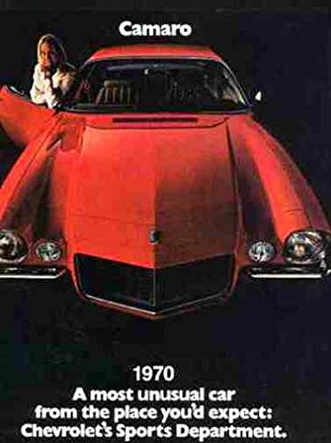 1970 CHEVROLET CAMARO BEAUTIFUL DEALERSHIP SALES BROCHURE - ADVERTISEMENT Includes Rally Sport RS, Super Sport SS Z28 and Convertible CHEVY 70 Chevrolet Camaro Sales Brochure