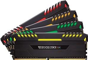 Corsair Vengeance RGB 32GB (4x8GB) DDR4 3200MHz C16 Desktop Memory - Black