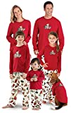 PajamaGram Vermont Teddy Bear Matching Family PJs, Red, Infant 0-3 months