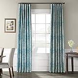 Cheap Ptpch-170804-120 Wilton Printed Faux Silk Taffeta Blackout Curtain, 50 x 120, Blue