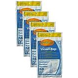 20 Sanitaire Sd Micro with Closure Vacuum Bags, Electrolux, Eureka, Duralux Vacuum Cleaners, 63262, SD - 63262, Commercial SC9180, SC-9180, SC9100, C4900, S9120, SC9150
