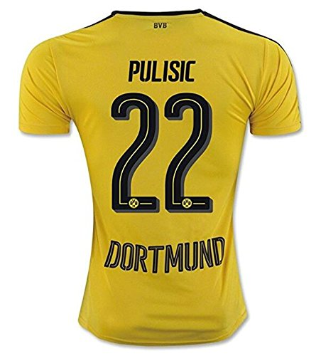 Puma Pulisic #22 Borussia Dortmund Home Soccer Jersey 2016/17 (L)