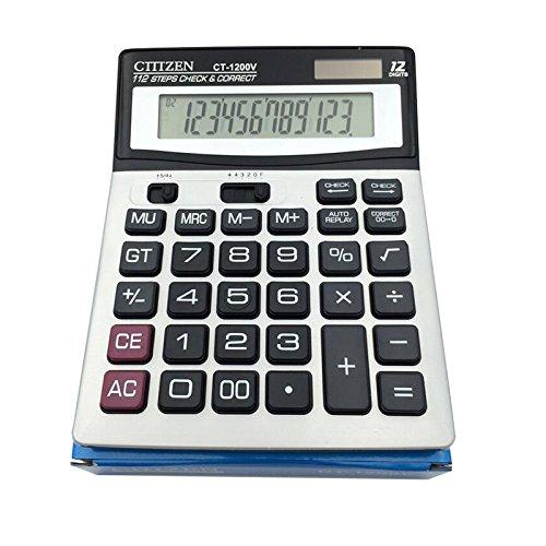 Calculator,12-Digits Dual Power Large Display Standard Office Desktop Calculators by e-cholife