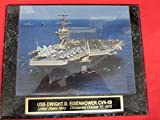 US Navy USS DWIGHT D EISENHOWER CVN-69 Collector Plaque w/8x10 Photo!