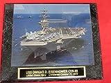 US Navy USS DWIGHT D EISENHOWER CVN-69 Collector Plaque w/8x10 Photo!