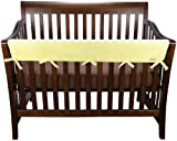 Trend Lab Fleece CribWrap Rail Cover for Long Rail, Yellow, Wide for Crib Rails Measuring up to 18