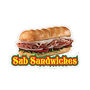 Amazon com : Sub Sandwiches Concession Restaurant Food Truck Die-Cut