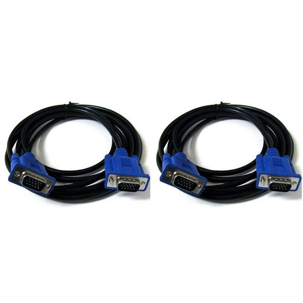 5ft VGA SVGA Male Male 15pin Cable Connects Computers to Projector Monitors TV