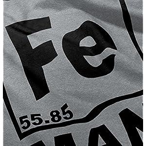 Brisco Brands Fe Iron Man Funny Shirt Cool Gift Idea Cute Nerd Geek Marvel Tank Top Shirt