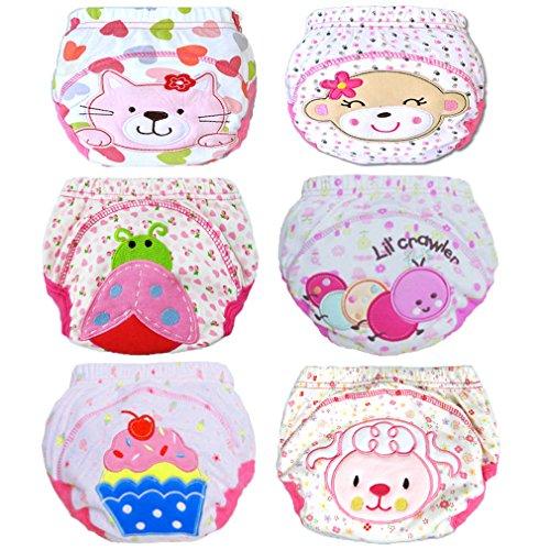 JT-Amigo 6-pack baby meisjes leerluier trainbroek ondergoed om schoon te worden 90 multicolor
