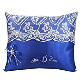 Select Quinceanera Photo Album Guest Book Kneeling Tiara Pillows Bible Q3165 (kneeling Pillow)