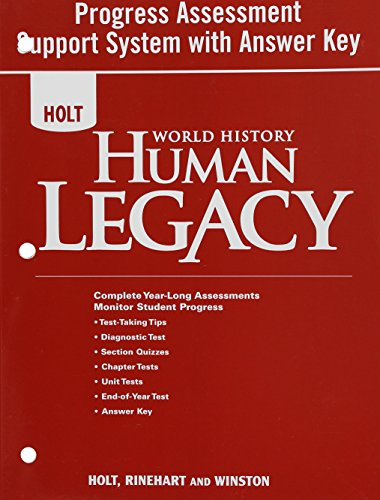 World History: Human Legacy Progress Assessment Support System with Answer ()