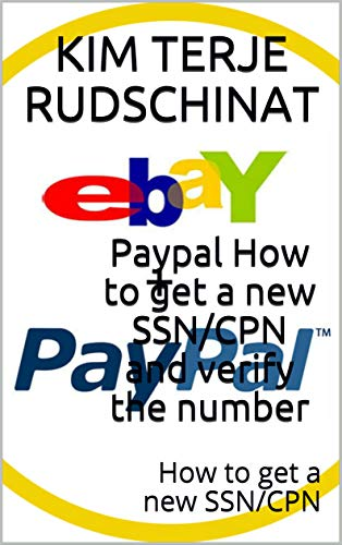 Amazon com: Paypal How to get a new SSN/CPN and verify the number