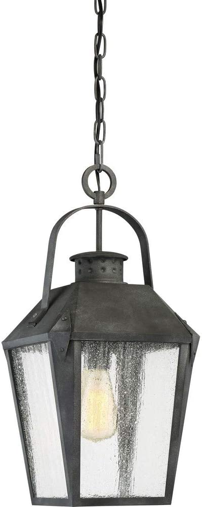 Quoizel Crg1910mb Carriage Outdoor Lantern Pendant Lighting 1 Light 150 Watts Mottled Black 21 H X 10 W Amazon Com