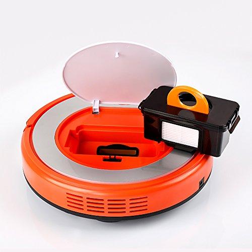 Fmart Robot Aspirador Q2 Limpiador de alfombras de Piso, Fregona Seca húmedo con Tanque de Agua, Robotic Limpiar para Mascotas Alergenos Inicio, ...