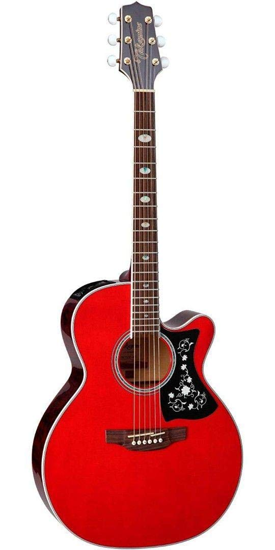Takamine 6 String Acoustic-Electric Guitar, Right Handed, Wine Red (GN75CE WR) by Takamine