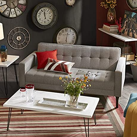 INK IVY Devon Sofa Light Grey Brown See Below